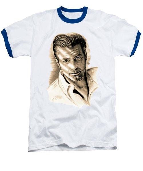 George Clooney Baseball T-Shirt by Gitta Glaeser