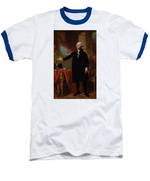 George Washington Lansdowne Portrait Baseball T-Shirt by War Is Hell Store