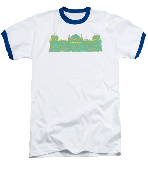 Germany Reichstag Dots Baseball T-Shirt by Frank Hoven