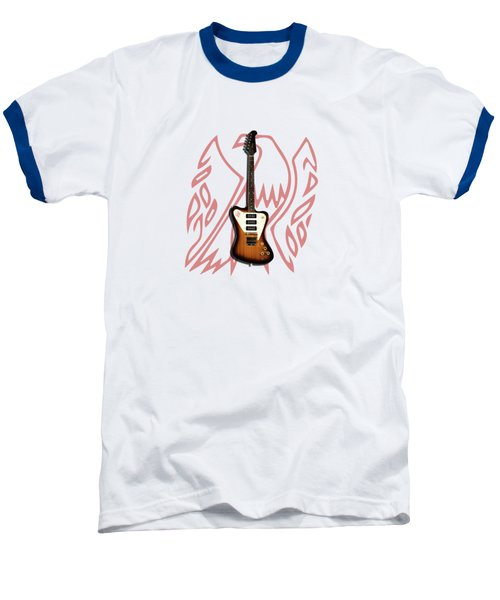 Gibson Firebird 1965 Baseball T-Shirt by Mark Rogan