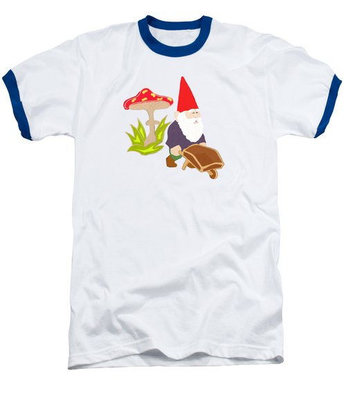 Gnome Garden Baseball T-Shirt by Priscilla Wolfe