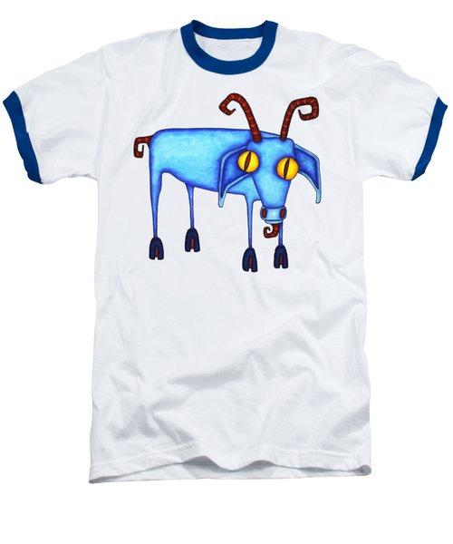 Goat Baseball T-Shirt by Joan Krygsman