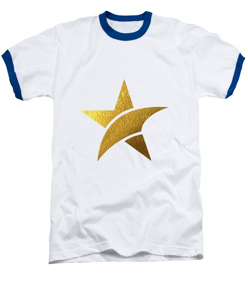 Golden Star Baseball T-Shirt by Bekare Creative