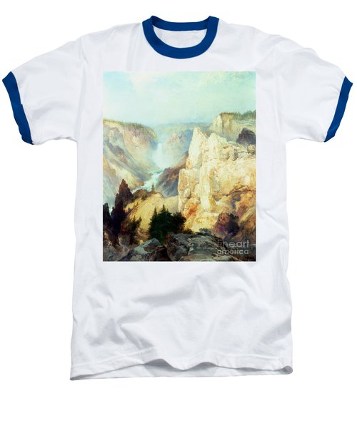 Grand Canyon Of The Yellowstone Park Baseball T-Shirt by Thomas Moran