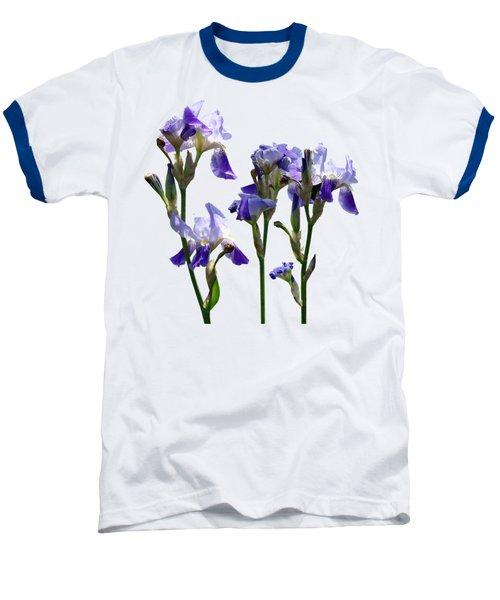 Group Of Purple Irises Baseball T-Shirt by Susan Savad