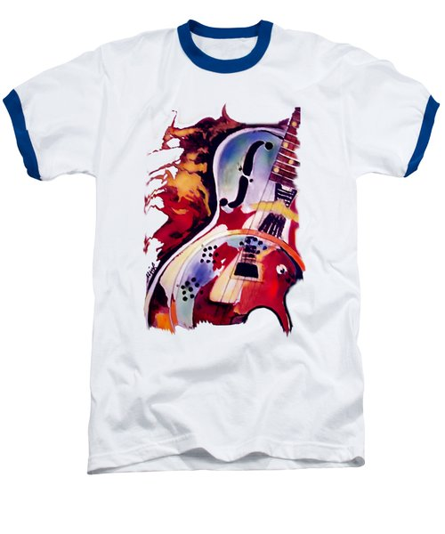 Guitar Flow Baseball T-Shirt by Melanie D