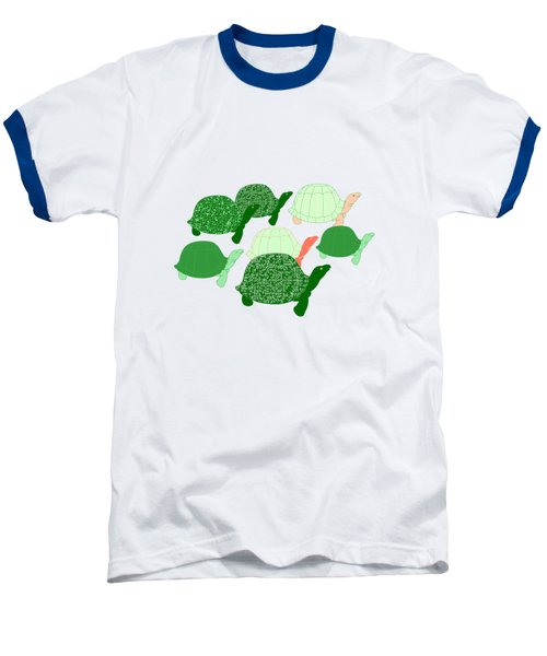 Herd Of Turtles Pattern Baseball T-Shirt by Methune Hively
