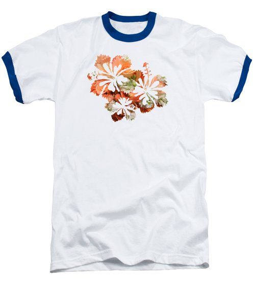 Hibiscus Flowers Baseball T-Shirt by Art Spectrum