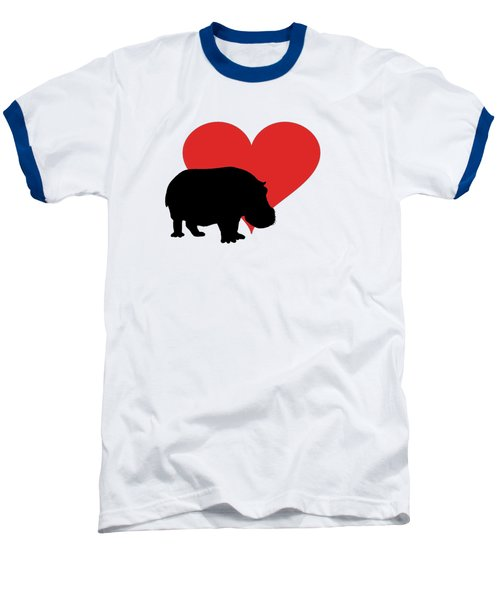 Hippopotamus Baseball T-Shirt by Mordax Furittus