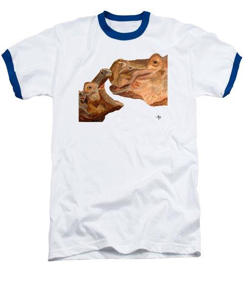 Hippos Baseball T-Shirt by Angeles M Pomata