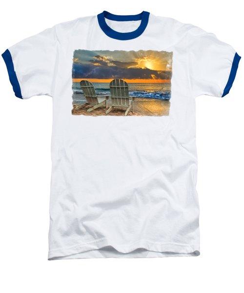 In The Spotlight Bordered Baseball T-Shirt by Debra and Dave Vanderlaan