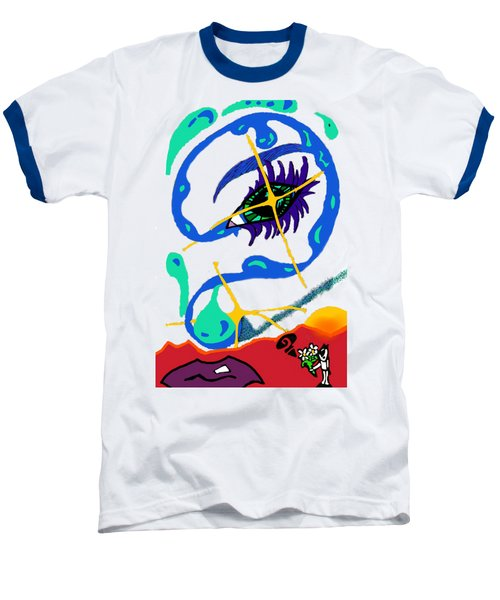 iseeU Baseball T-Shirt by Flyn Phoenix