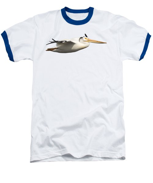 Isolated Pelican 2016-1 Baseball T-Shirt by Thomas Young