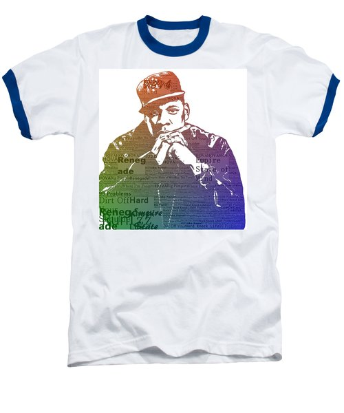 Jay Z Typography Baseball T-Shirt by Dan Sproul