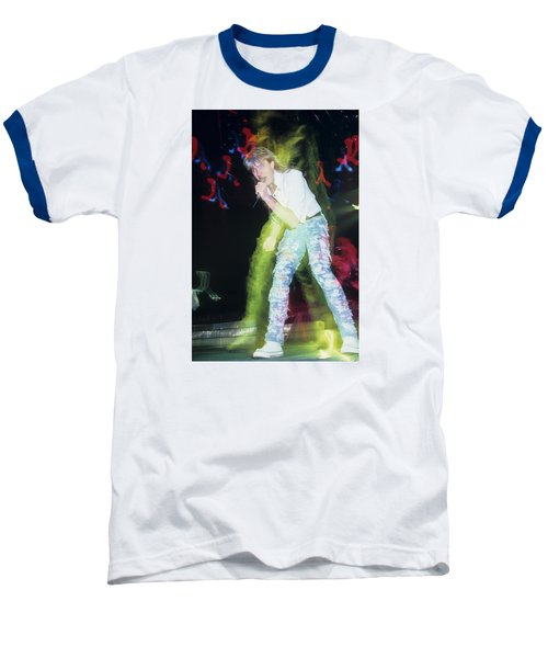 Joe Elliott Of Def Leppard Baseball T-Shirt by Rich Fuscia