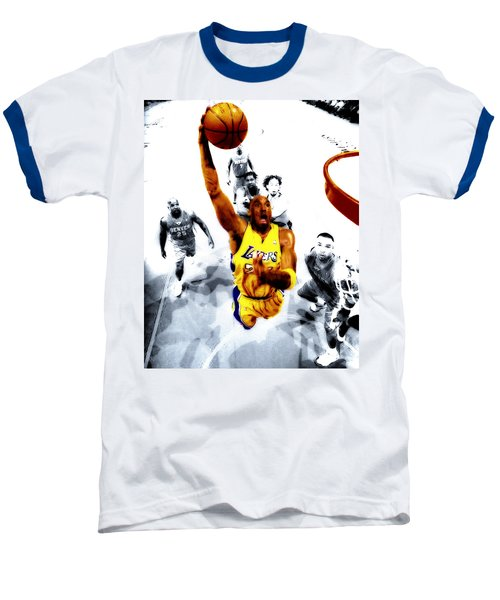 Kobe Bryant Took Flight Baseball T-Shirt by Brian Reaves