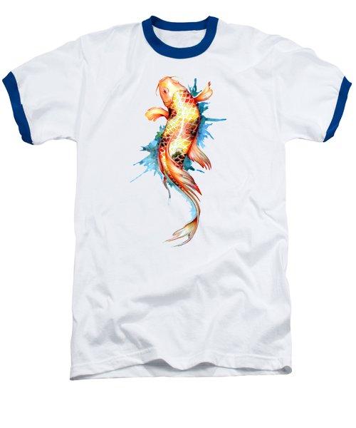 Koi Fish I Baseball T-Shirt by Sam Nagel