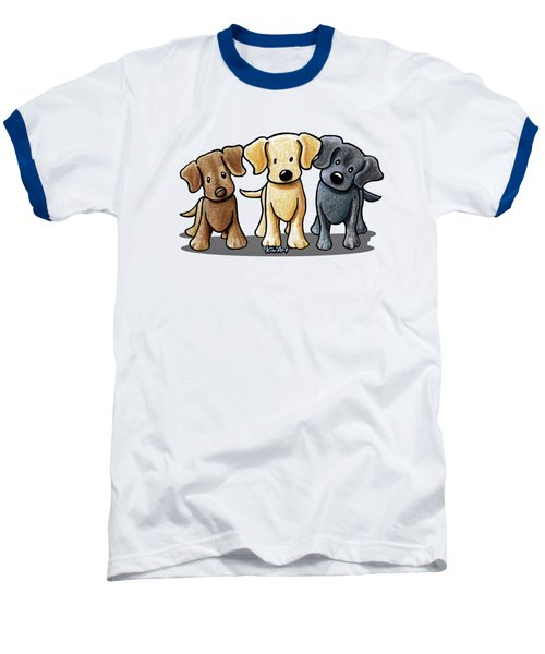 Labrador Beach Trio Baseball T-Shirt by Kim Niles