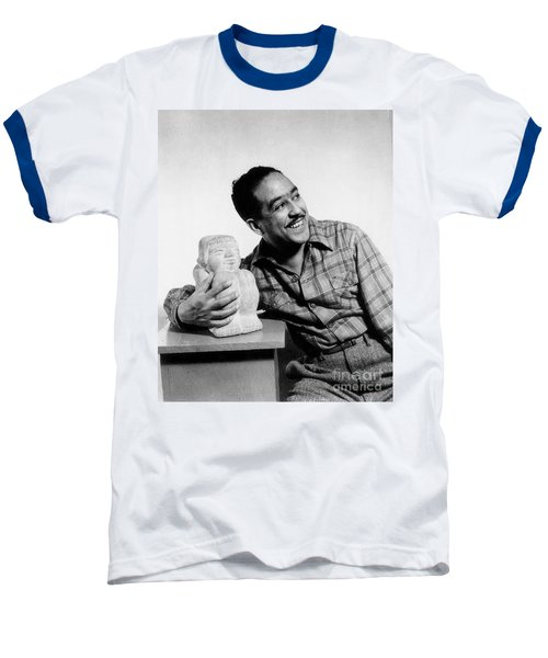 Langston Hughes (1902-1967) Baseball T-Shirt by Granger