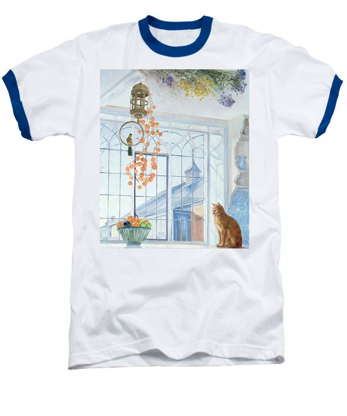 Lanterns Baseball T-Shirt by Timothy Easton