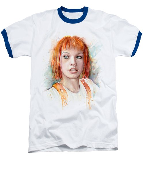 Leeloo Portrait Multipass The Fifth Element Baseball T-Shirt by Olga Shvartsur