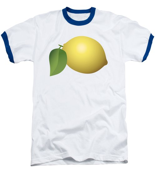 Lemon Fruit Baseball T-Shirt by Miroslav Nemecek