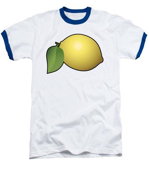 Lemon Fruit Outlined Baseball T-Shirt by Miroslav Nemecek