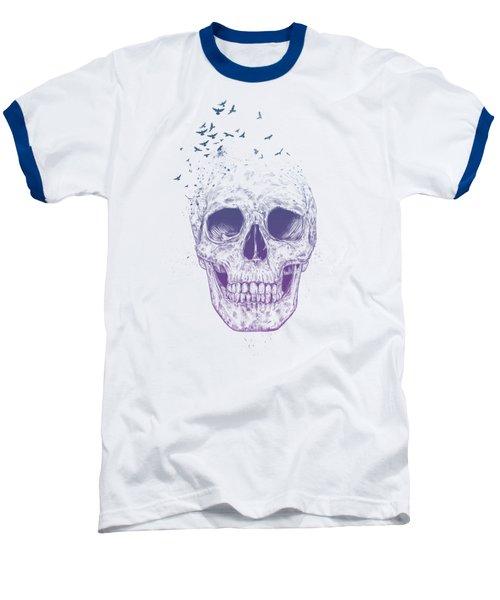 Let Them Fly Baseball T-Shirt by Balazs Solti