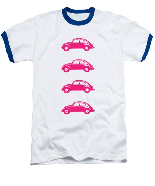 Little Pink Beetles Baseball T-Shirt by Edward Fielding