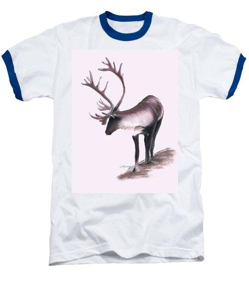 Lone Caribou Baseball T-Shirt by Jane M Lucas