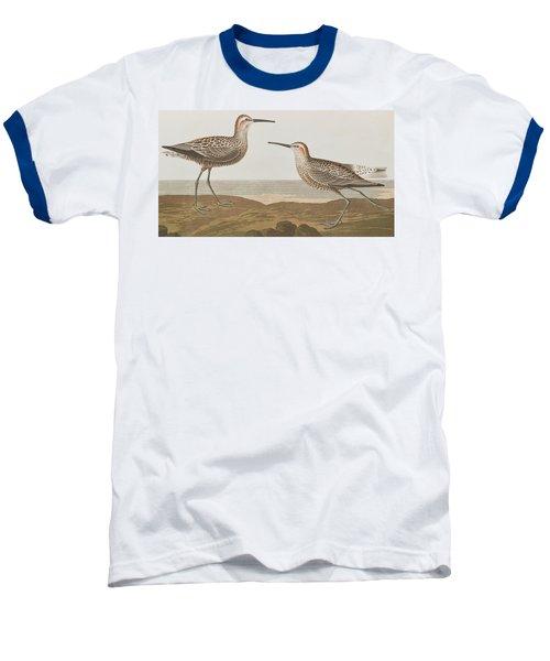 Long-legged Sandpiper Baseball T-Shirt by John James Audubon