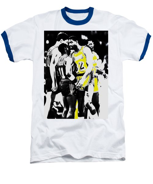 Magic Johnson And Isiah Thomas Baseball T-Shirt by Brian Reaves