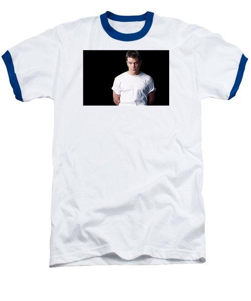 Matt Damon Baseball T-Shirt by Iguanna Espinosa
