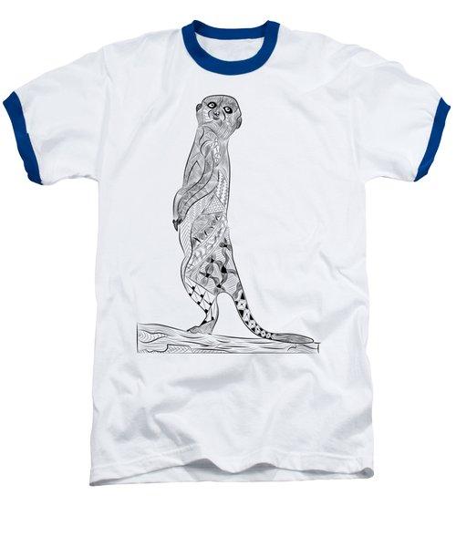 Meerkat Baseball T-Shirt by Serkes Panda