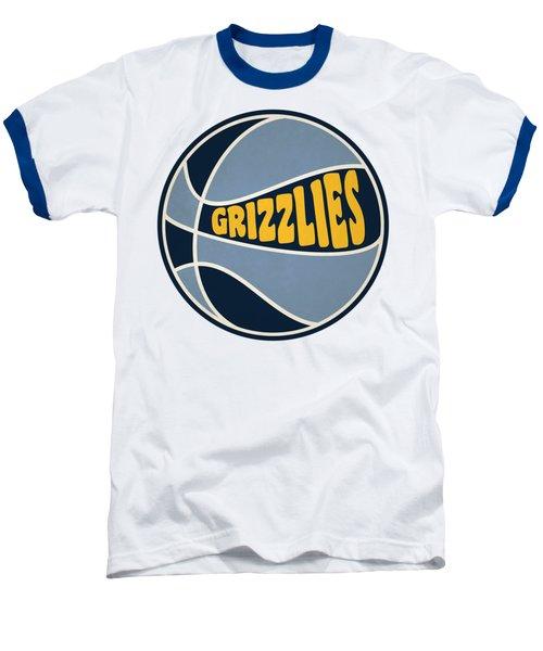 Memphis Grizzlies Retro Shirt Baseball T-Shirt by Joe Hamilton