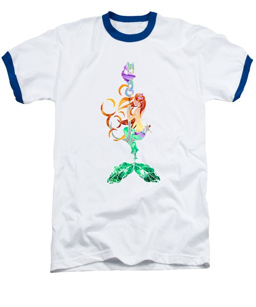 Mermaid Baseball T-Shirt by Aubrey Hittle
