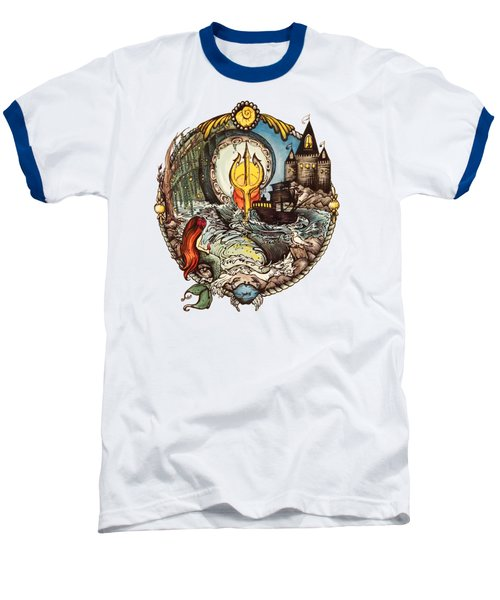 Mermaid Part Of Your World Baseball T-Shirt by Cat Dolch