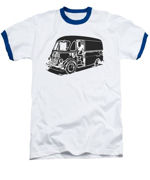 Metro Step Van Tee Baseball T-Shirt by Edward Fielding