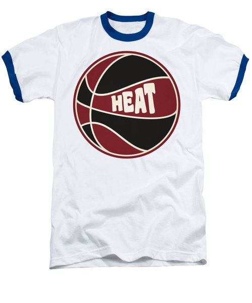 Miami Heat Retro Shirt Baseball T-Shirt by Joe Hamilton