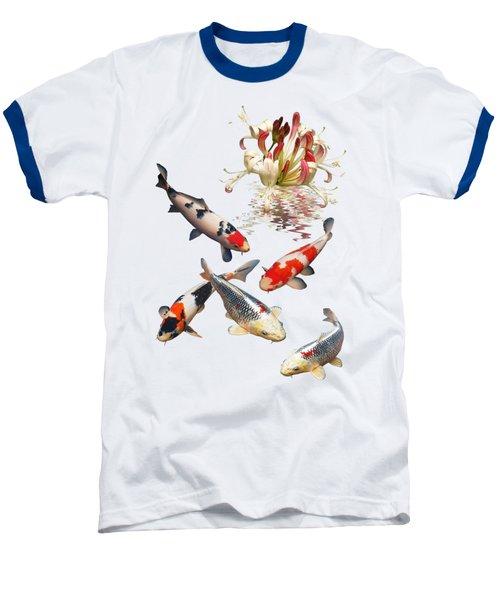 Midnight Reflections Baseball T-Shirt by Gill Billington