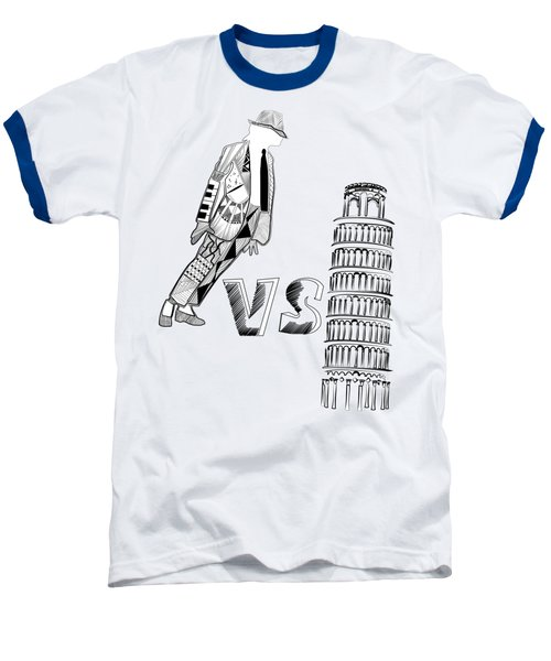 Mj Vs Pisa Baseball T-Shirt by Serkes Panda