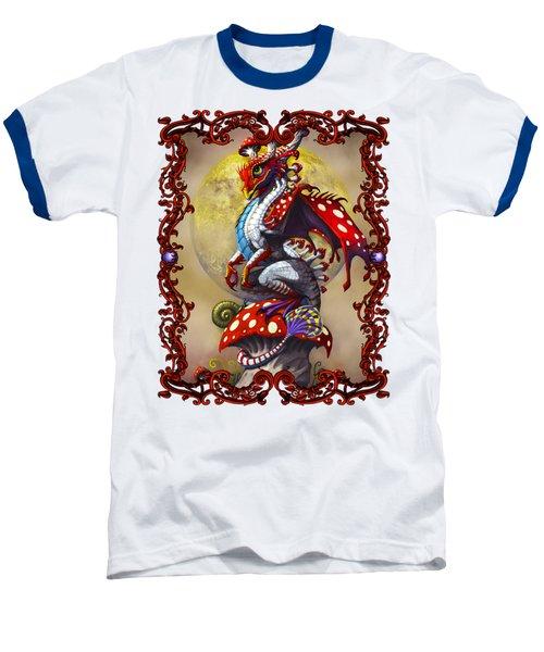 Mushroom Dragon T-shirts Baseball T-Shirt by Stanley Morrison