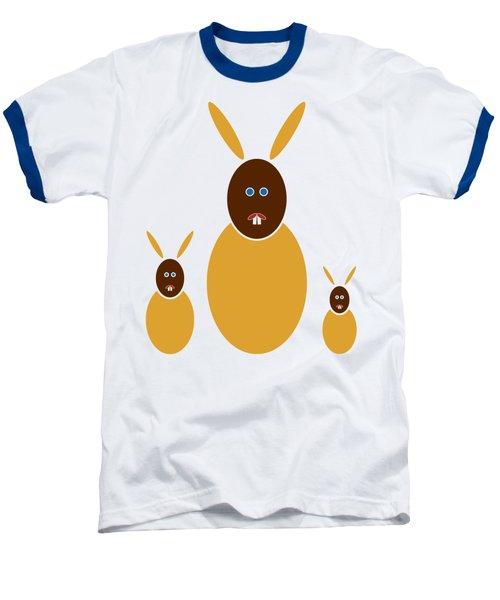 Mustard Bunnies Baseball T-Shirt by Frank Tschakert