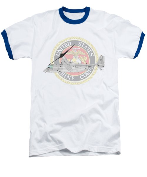 Mv-22bvmm-261 Baseball T-Shirt by Arthur Eggers