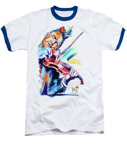 Nigel Kennedy Baseball T-Shirt by Melanie D