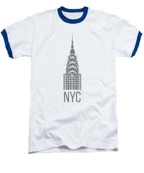 Nyc New York City Graphic Baseball T-Shirt by Edward Fielding