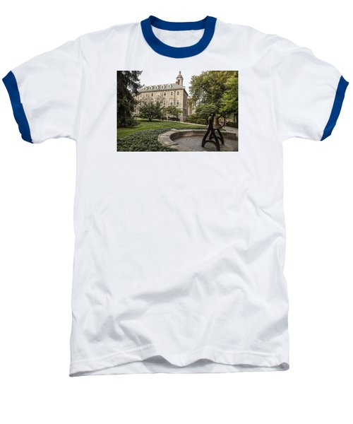 Old Main Penn State Bell  Baseball T-Shirt by John McGraw