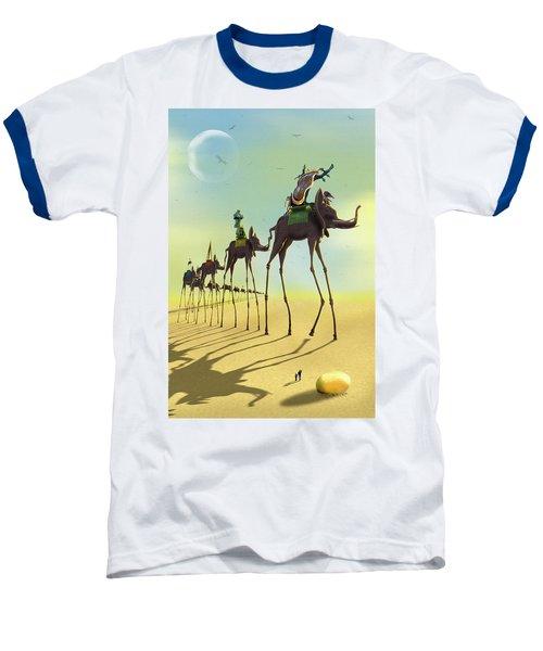 On The Move 2 Baseball T-Shirt by Mike McGlothlen