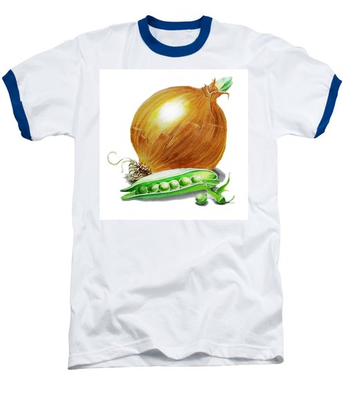 Onion And Peas Baseball T-Shirt by Irina Sztukowski