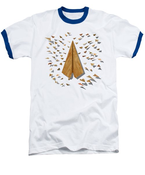 Paper Airplanes Of Wood 10 Baseball T-Shirt by YoPedro